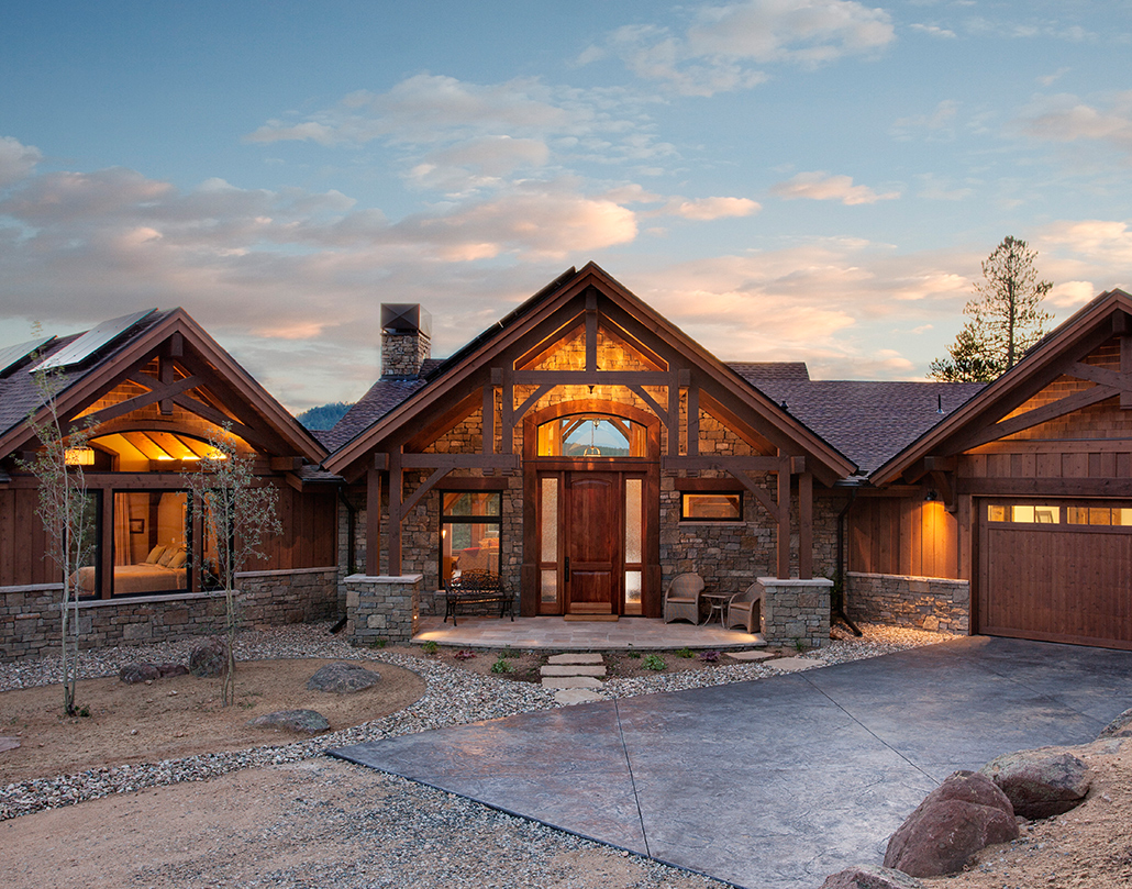Colorado timberframe custom timber frame homes for Timber frame farmhouse plans