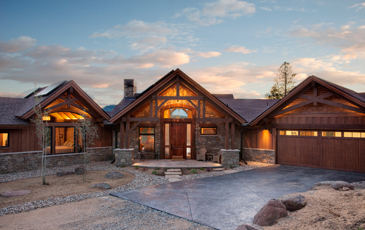 Twin sisters ranch colorado timberframe for Ranch timber frame plans