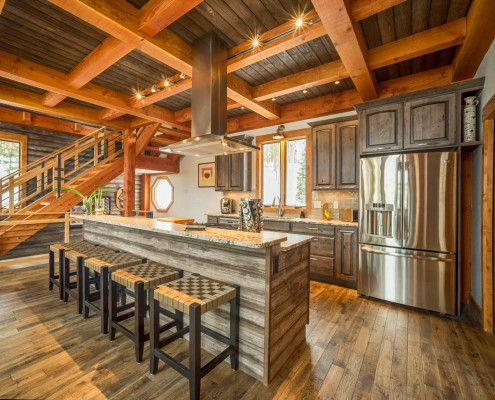 Elk Thistle timber frame kitchen 2