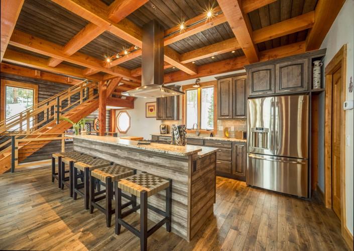 Elk Thistle timber frame kitchen 2