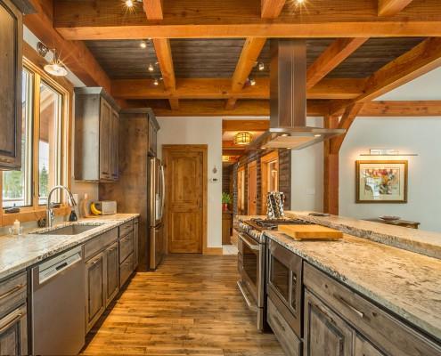 Elk Thistle timber frame kitchen