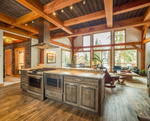 Elk Thistle timber frame kitchen 3