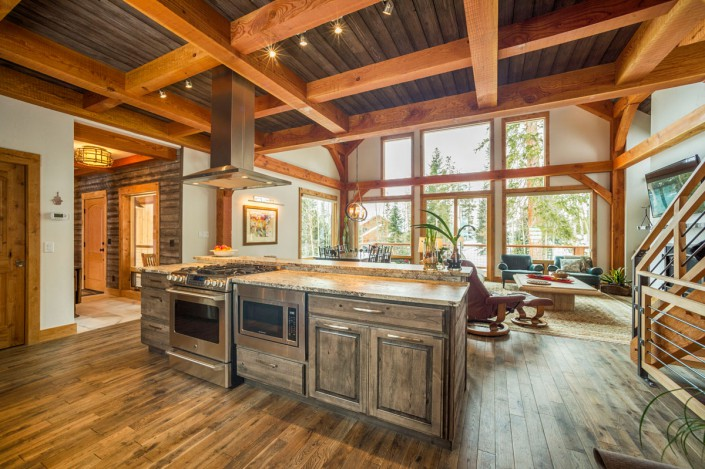 Elk Thistle timber frame kitchen 3