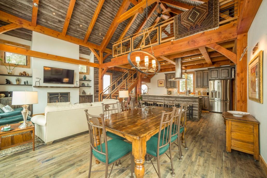 Elk Thistle timber frame dining room