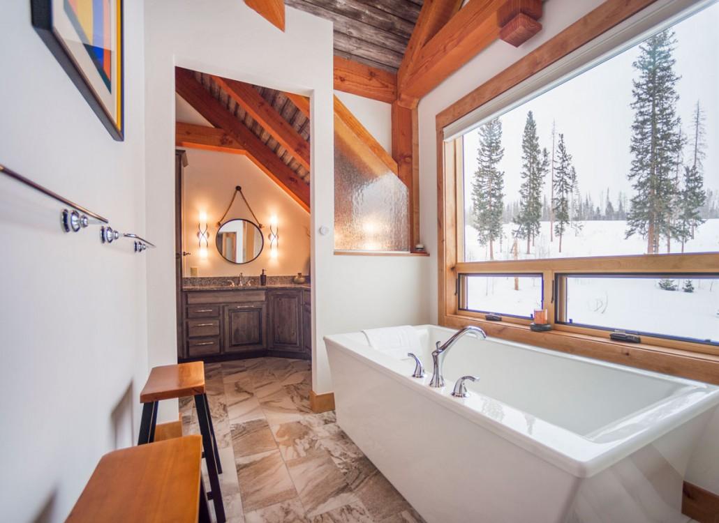 Elk Thistle timber frame bathroom 2