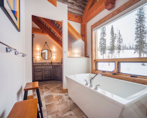 Elk Thistle timber frame bathroom 2