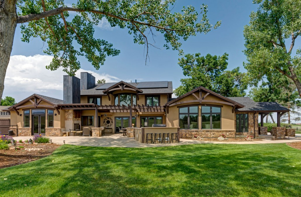 Timber Frame Addition To Century Old Ranch Colorado