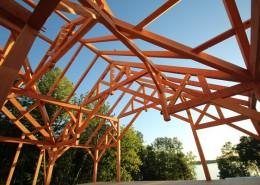 timber frame lodge Minnesota lake