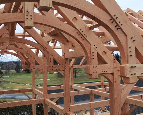 Lakelawn timber frame barn joinery detail