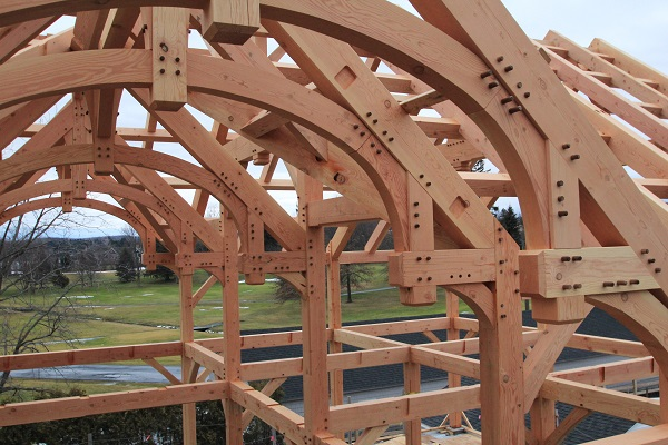 Timber Barn Complex In Upstate New York Colorado Timberframe