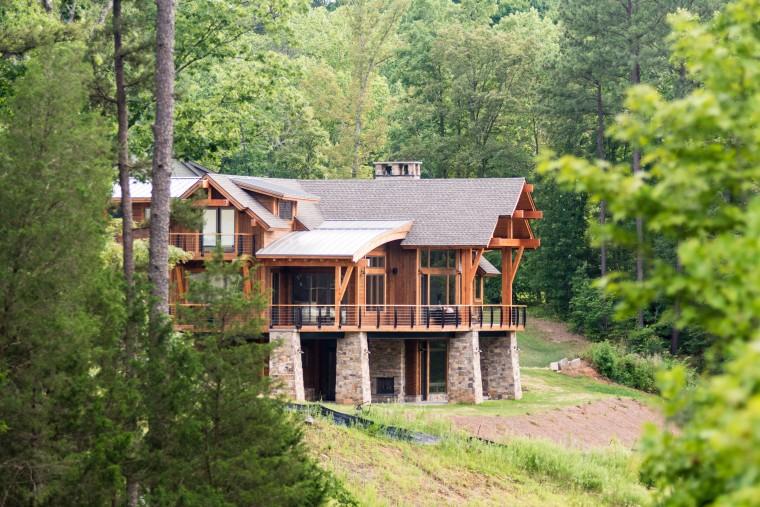 Modern Mountain Timber Frame In North Carolina Colorado