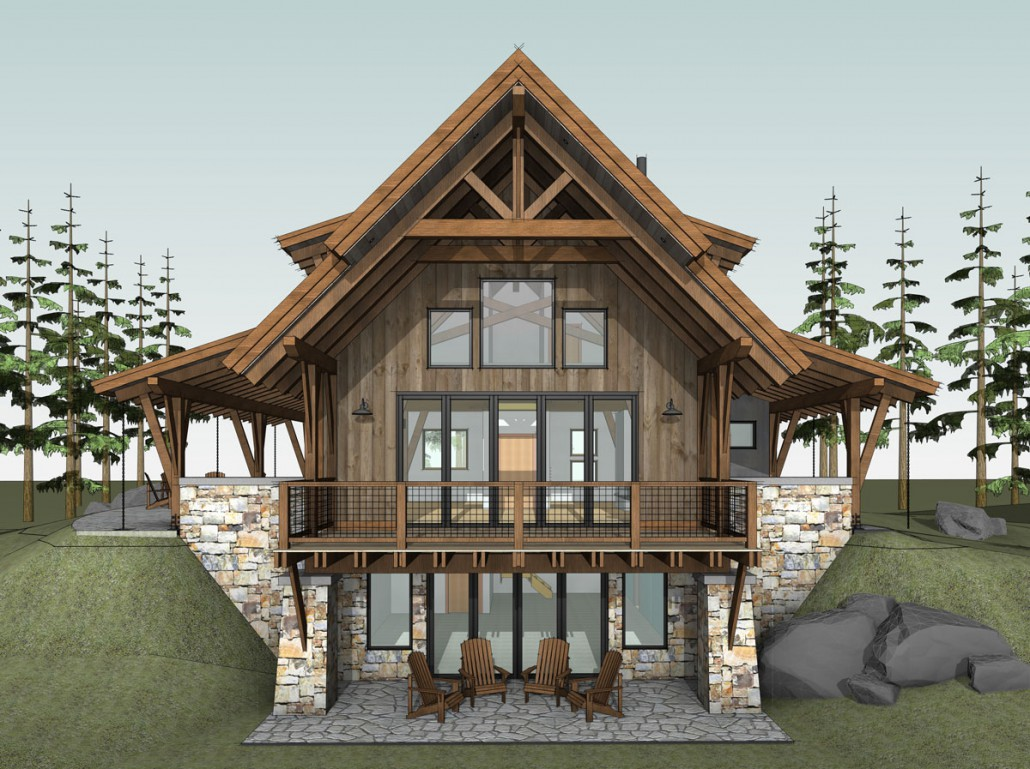 Steamstone colorado timberframe for Timber frame designs