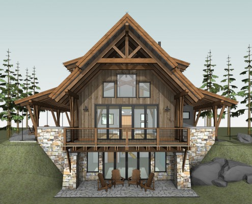 Colorado timber frame home plans home design and style Timber frame cottage plans