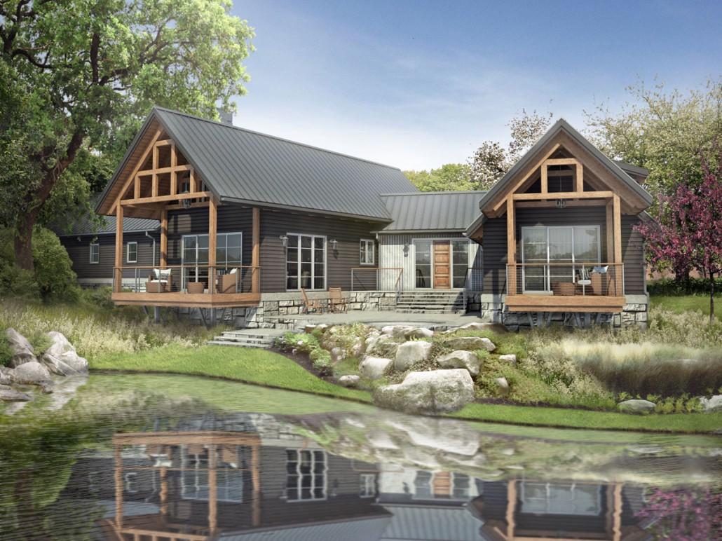Deer creek colorado timberframe for Mountain home designs colorado