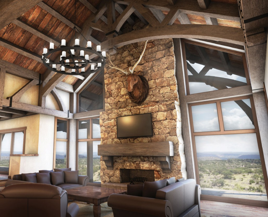 Hill country ranch colorado timberframe for Ranch style timber frame homes