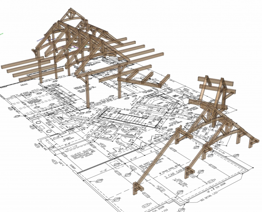 Hybrid timber frame floor plan