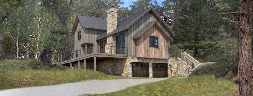 Colorado Timberframe_Floor Plan_Indian Peaks rendering