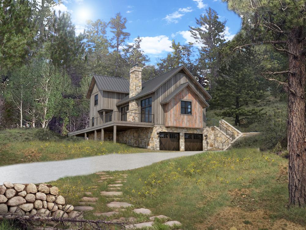 Colorado Timberframe_Floor Plan_Indian Peaks rendering