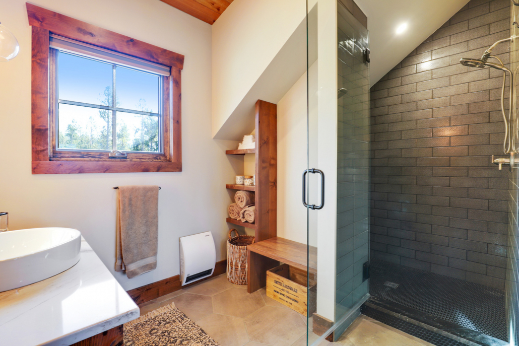 mountain house bathroom shower