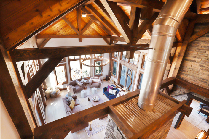 timber frame loft view