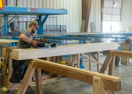 Colorado Timberframe shop wood planer
